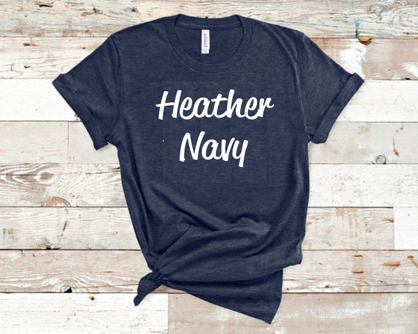 Heather Navy Bella Unisex T-Shirt