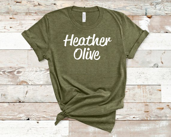 Heather Olive Bella Unisex T-Shirt