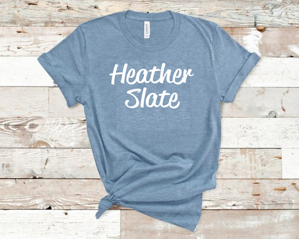 Heather Slate Bella Unisex T-Shirt