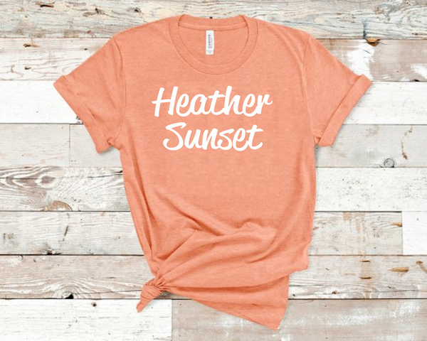 Heather Sunset Bella Unisex T-Shirt