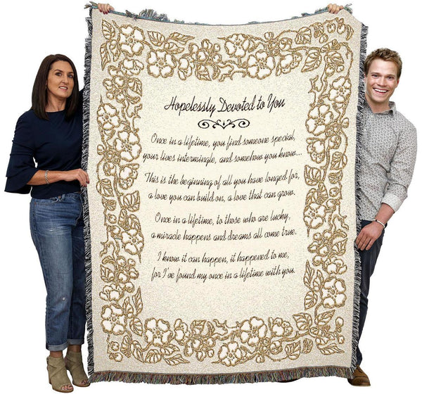 Hopelessly Devoted to You 50th Anniversary Throw
