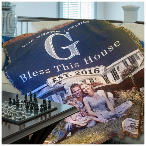 Custom Photo House Closing Gift Throw