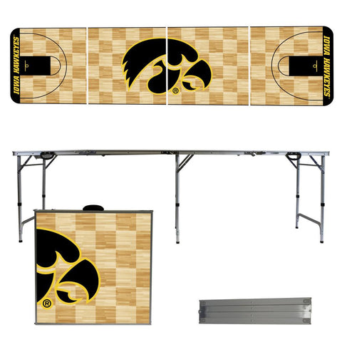 Iowa Hawkeyes 2' x 8' Tailgate Pong Table