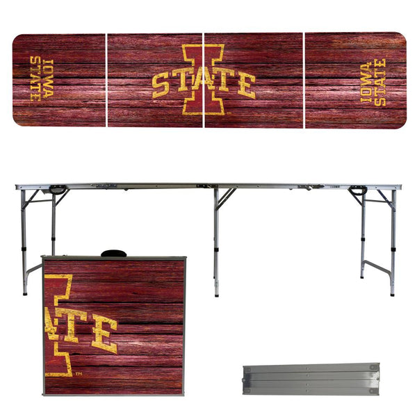 Iowa State University 2' x 8' Tailgate Pong Table