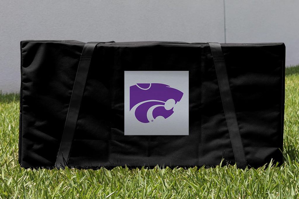 Kansas State Cornhole Boards, Custom All Weather Cornhole Bags & Carrying Case Package