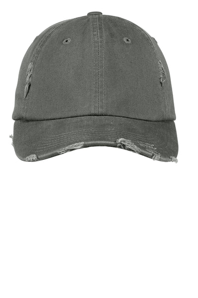 Light Olive Distressed Pigment Dyed Hat