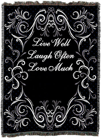 Live Well Laugh Often Love Much Throw-Black