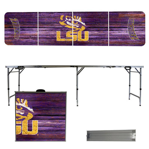 LSU Tigers 2' x 8' Tailgate Pong Table