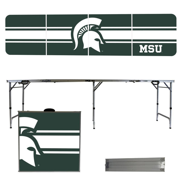 Michigan State 2' x 8' Tailgate Pong Table