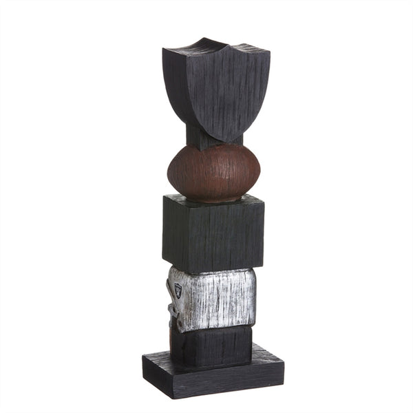 Oakland Raiders Football Tiki Totem back
