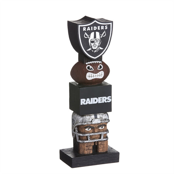 Oakland Raiders Football Tiki Totem