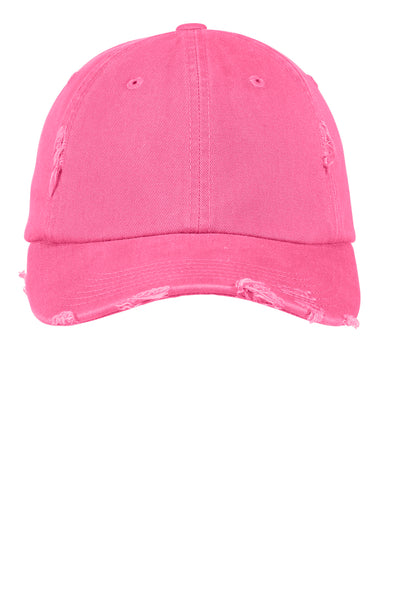 Pink Distressed Pigment Dyed  Hat