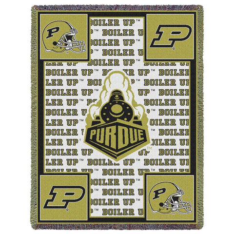 Purdue Boiler Up Train College Throw