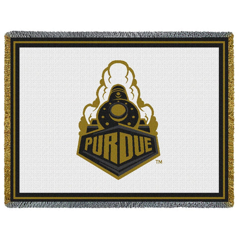 Purdue Boilermaker Train College Throw