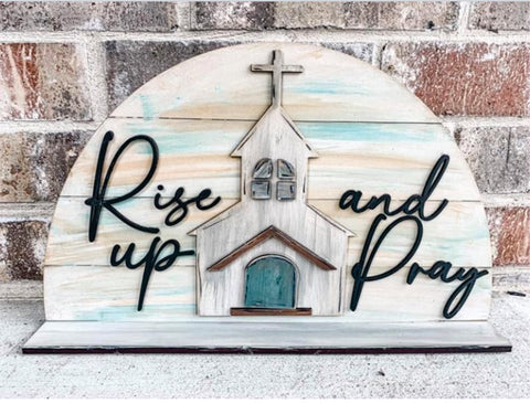 Rise Up & Pray Wood/Paint Kit