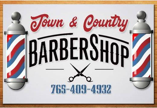 Town & Country Barber Shop Sign for Building