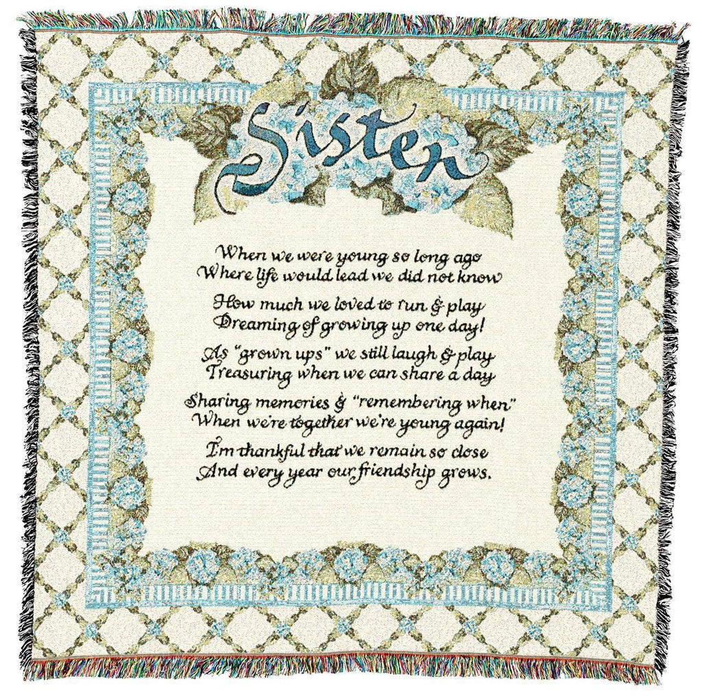Sisters Woven Gift Throw Blanket