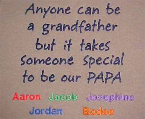 Anyone can be a grandfather but it takes someone special to be our PAPA Embroidered Shirt