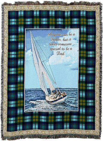Special Dad Woven Tapestry Throw Blanket