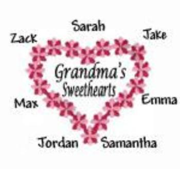 Grandma's Sweethearts Embroidered Shirt