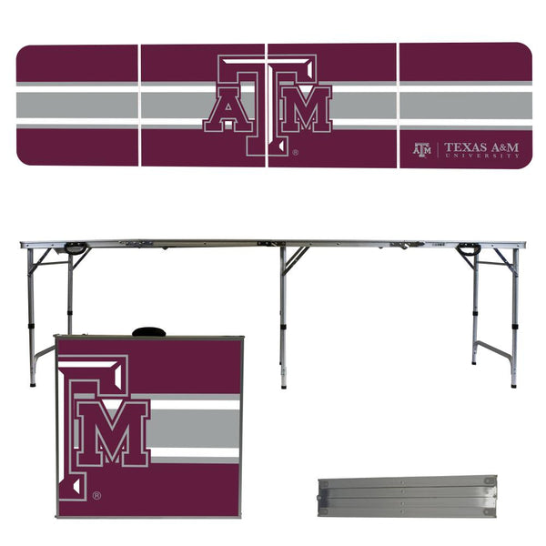 Texas AM University 2' x 8' Tailgate Pong Table