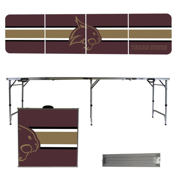 Texas State 2' x 8' Tailgate Pong Table