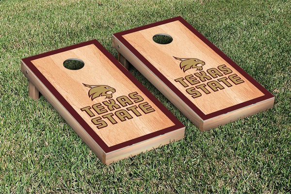 Texas State University Cornhole Boards, Custom All Weather Cornhole Bags & Carrying Case Package