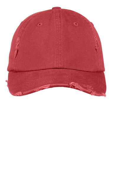 Red Distressed Pigment Dyed  Hat