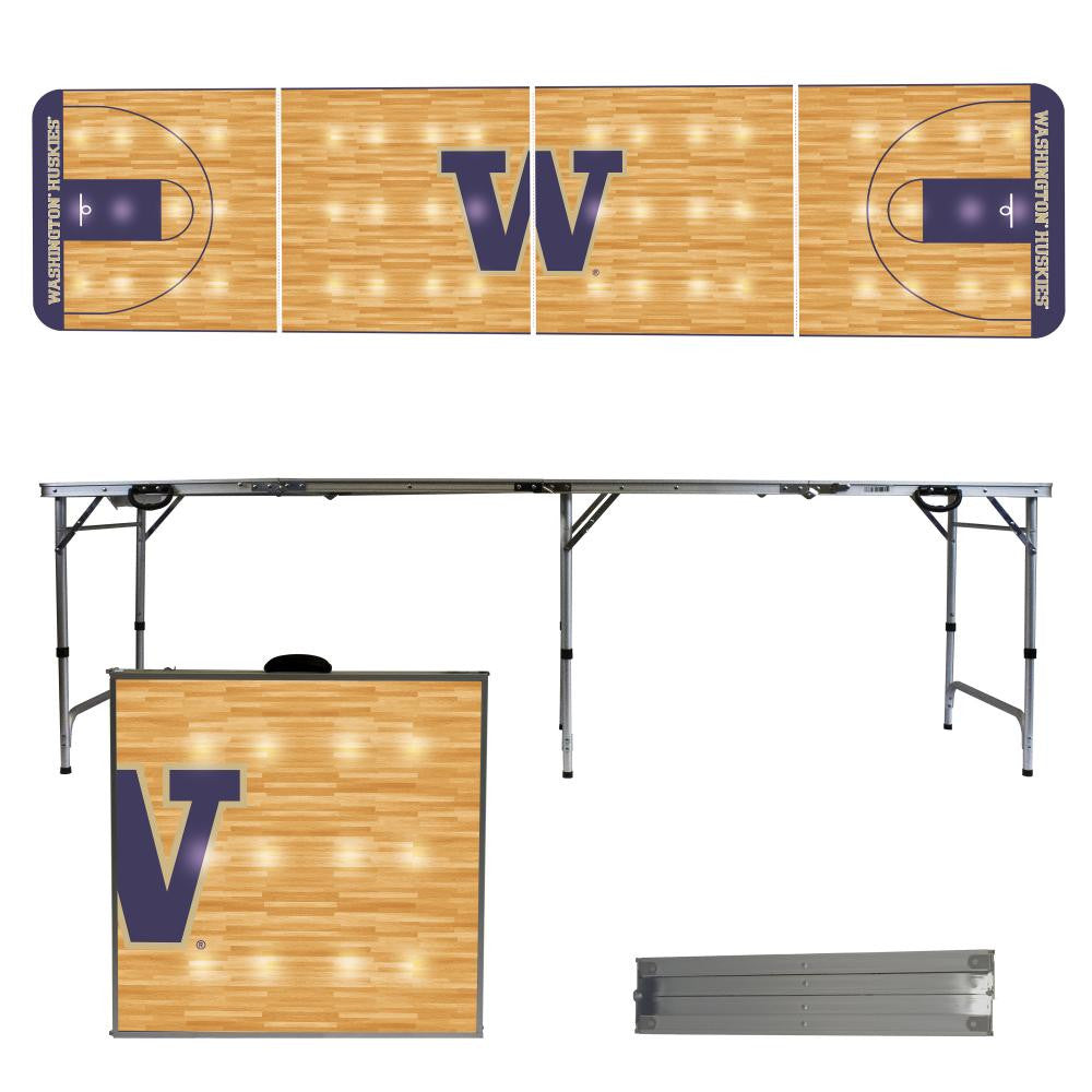 Washington Huskies 2' x 8' Tailgate Pong Table