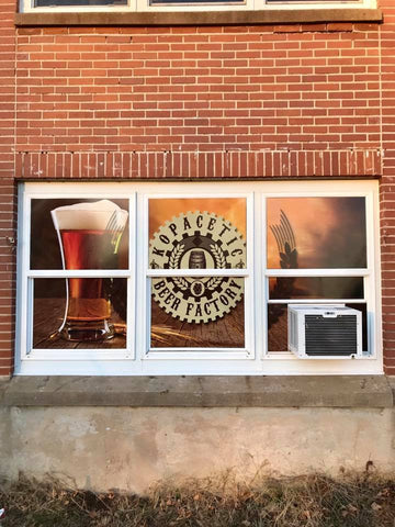 Kopacetic Beer Factory Window Graphics