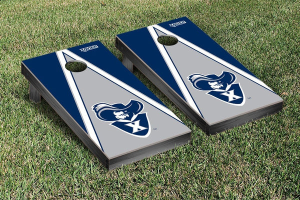 Xavier University Cornhole Boards, Custom All Weather Cornhole Bags & Carrying Case Package