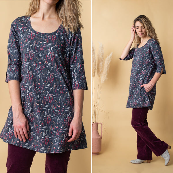 Ballet {TUNIC} Grey Vines