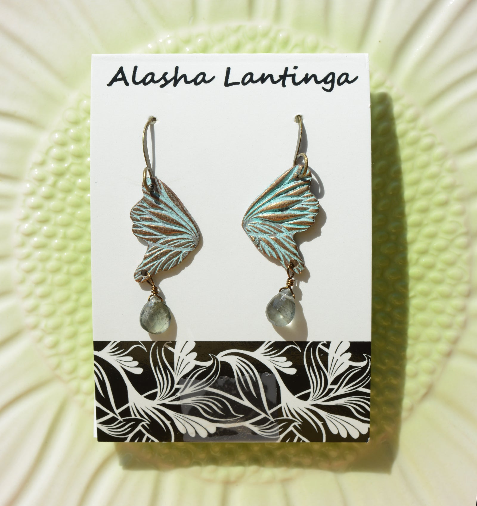 Alasha Lantinga {TURQUOISE PATINA EARRINGS}