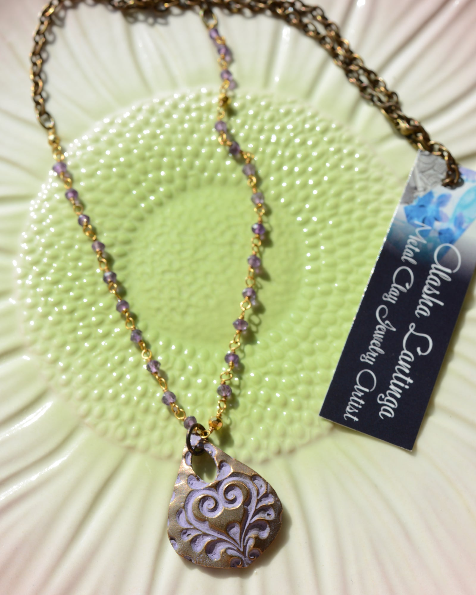 Alasha Lantinga {LAVENDER PATINA NECKLACE}