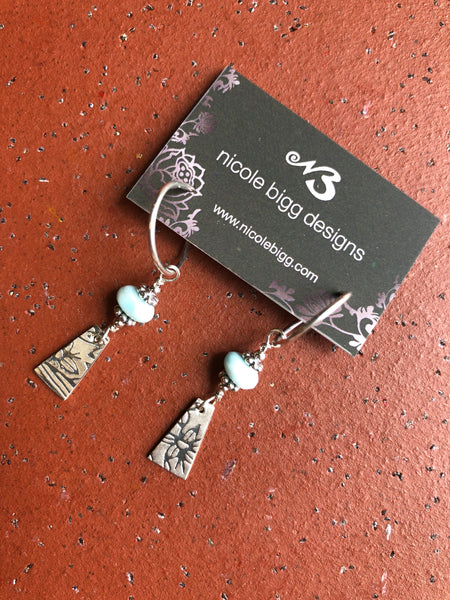 Nicole Bigg {STONE EARRINGS SILVER}