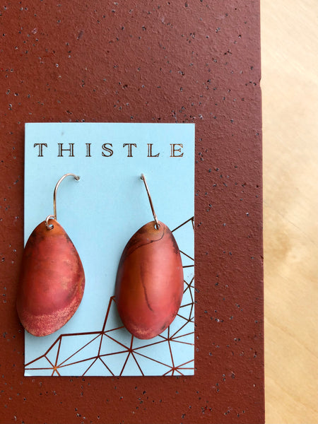 Thistle {COPPER PATINA EARRINGS}