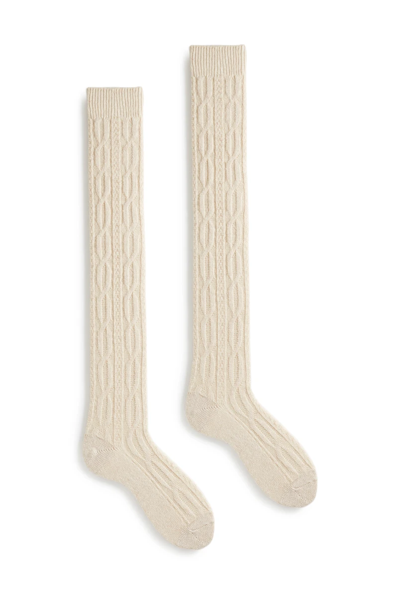 lisa b. {CASHMERE CABLE OVER THE KNEE}
