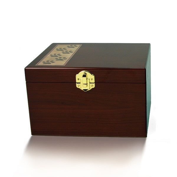 Pet Pawprint Memory Chest