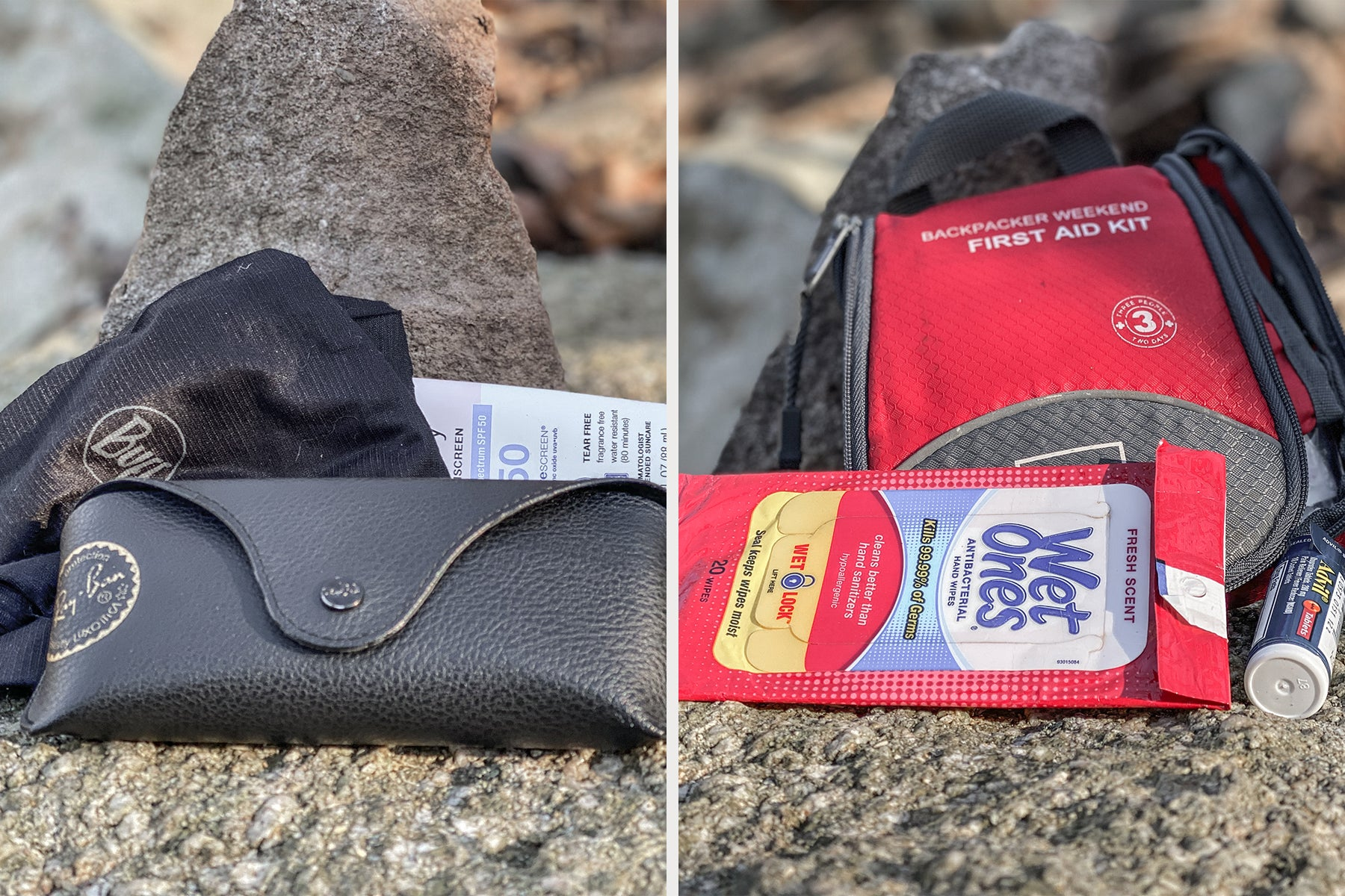 sun protection and first aid