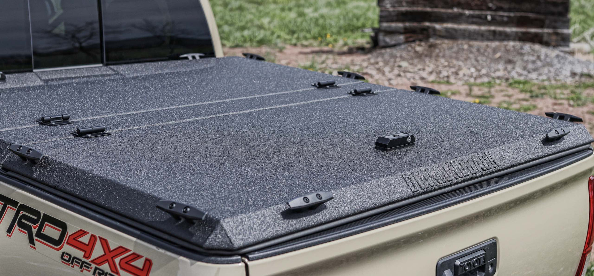 Toyota Tacoma with DiamondBack HD diamond plate bed cover