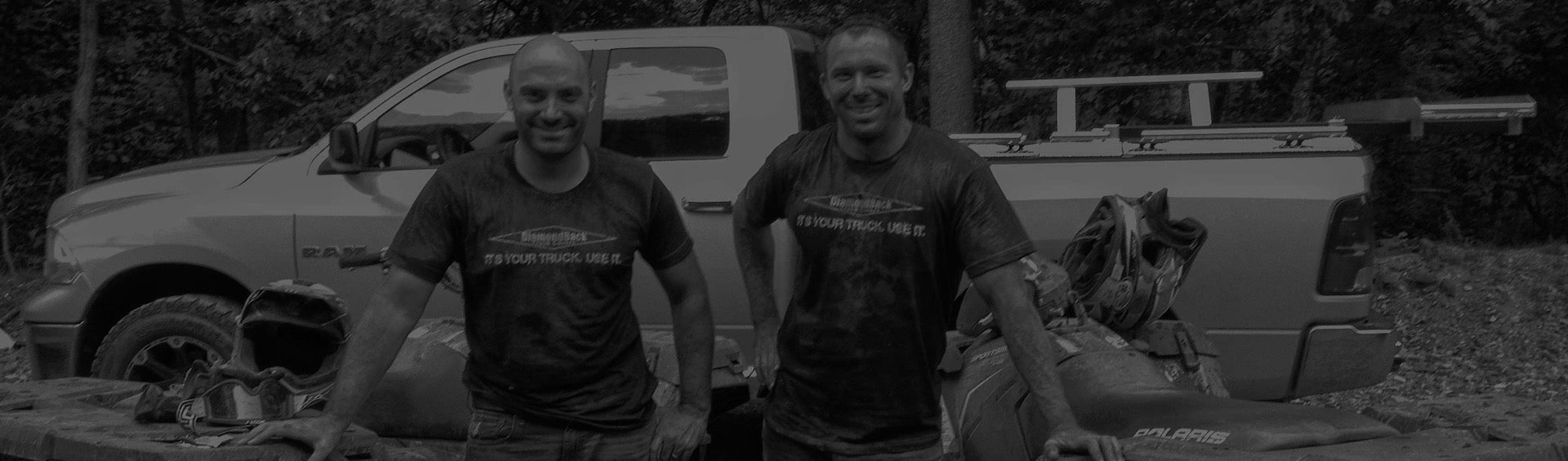DiamondBack Truck Covers founders Ethan Wendle and Matt Chverchko