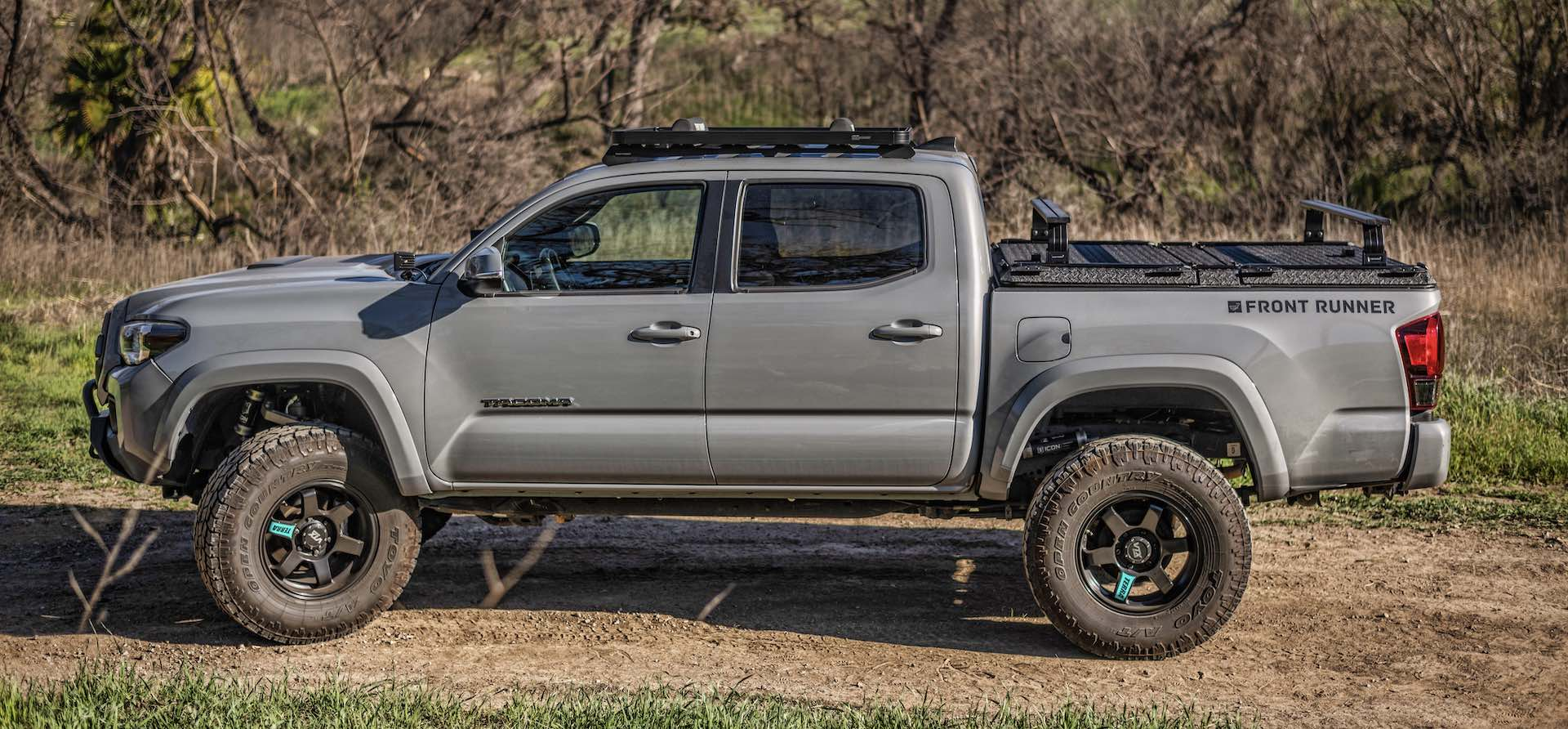 Toyota Tacoma with DiamondBack HD and Front Runner Rack