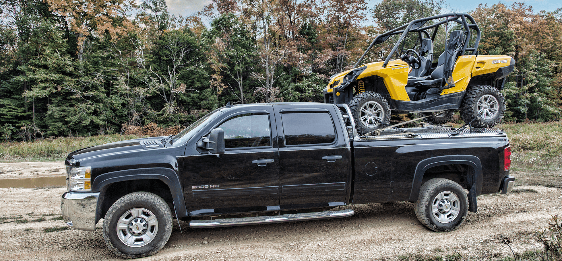 utv truck rack on chevy silverado with one sxs