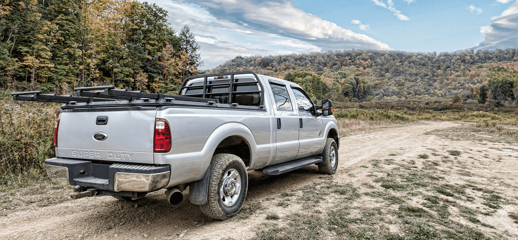 utv truck rack on ford super duty with unloaded sxs
