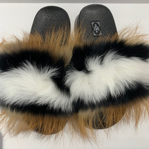 CHLOE K Fur Slippers Combo