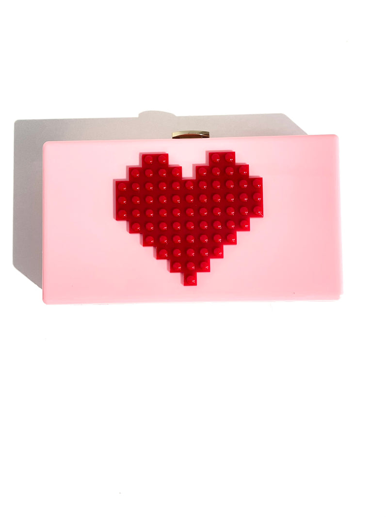 CHLOE K Lego Heart Bag