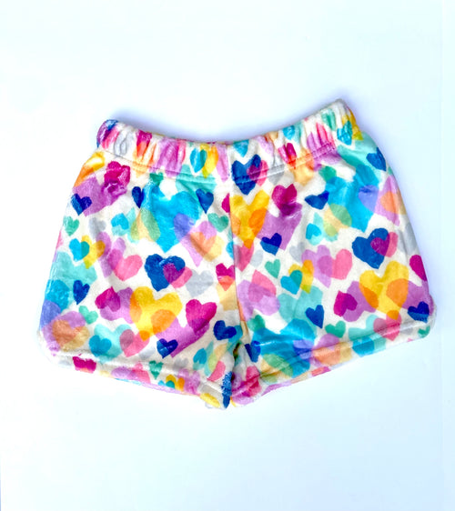 ISCREAM Pastel Hearts Plush Shorts