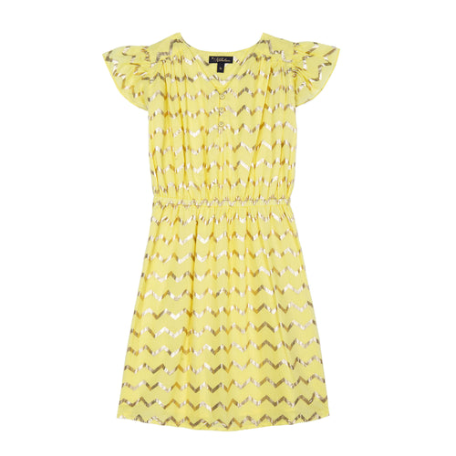 VELVETEEN Julieta Yellow Girl Dress