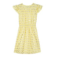 VELVETEEN Julieta Elasticated-Waist Yellow Dress