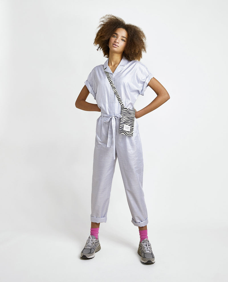 LES COYOTES DE PARIS  Frankie Striped Metallic Jumpsuit